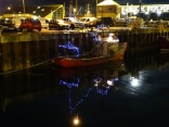 Christmas fishing boat Stromness