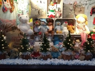 Christmas spotting shop window Kirkwall