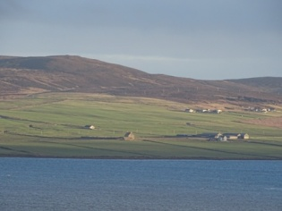 Hall of Clestrain Orphir from Brinkies Brae M Bell