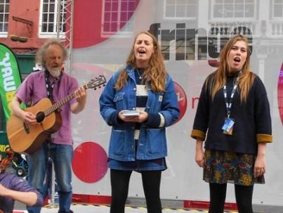 Orkney Fastliners musician Don Holdernesse at the Edinburgh Fringe 2017.