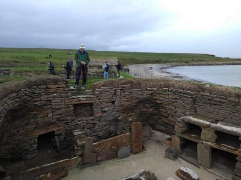 Phil Godfrey at Skara Brae