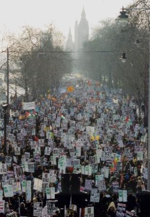 London anti war protest 2003