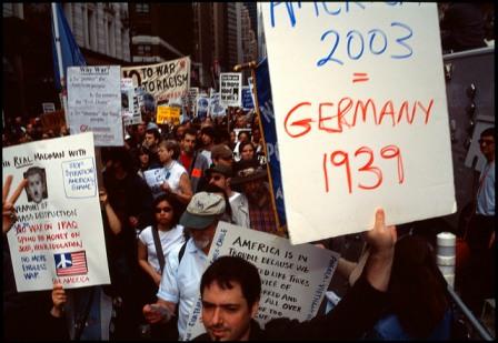 New York anti war protest 2003