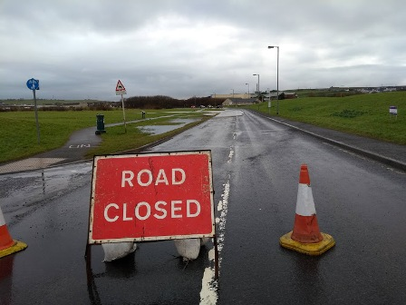 Flooding 3 road closed 10 2 19