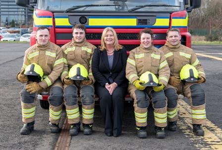 Liz Barnes with trainees 21 Feb 2019