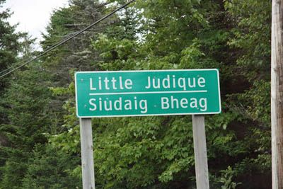 road sign in Canada