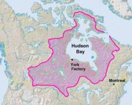 Hudsons Bay York Factory map