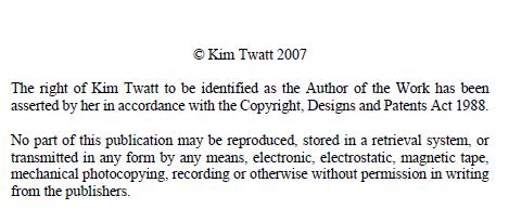 Kim Twatt copyright