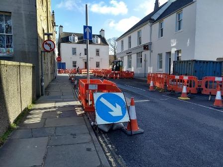 Kirkwall Road works 2
