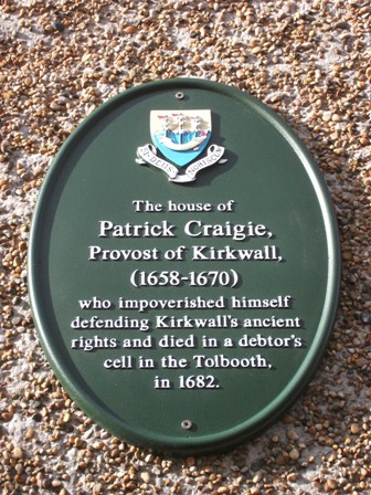 Patrick Craigie Kirkwall B Bell