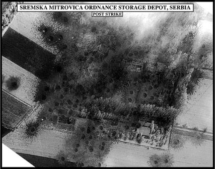 Serbian air strike