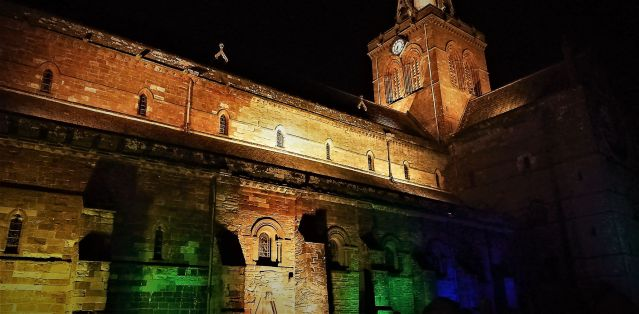 St Magmus Cathedral in Fairtrade colours KA