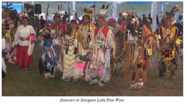 Sturgeon Lake Pow Wow dancers
