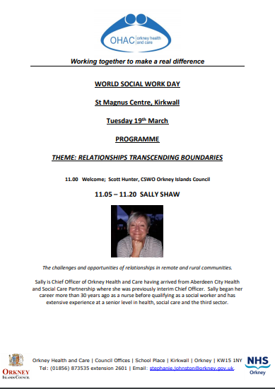 World Social Work Day 2019 1