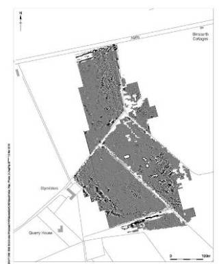 Geophysical survey of the substation site showing anomalies