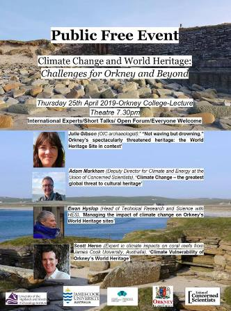 poster on climate change event