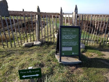 Ring of Brodgar protecting the path