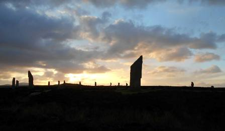 Ring of Brodgar sunset