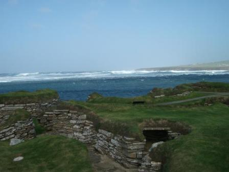 Skara Brae and waves