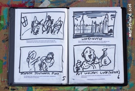 Storyboard sketches