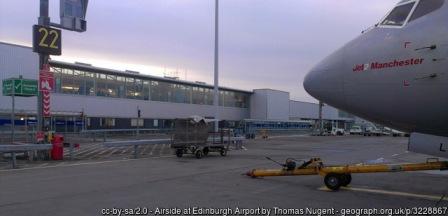 Edinburgh airport Thomas Nugent