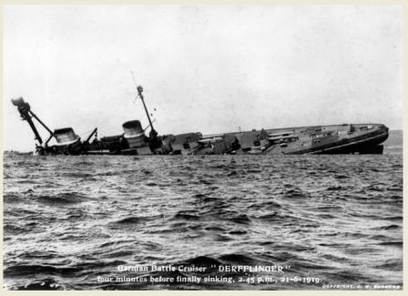 Scapa 100 Derfflinger sinking