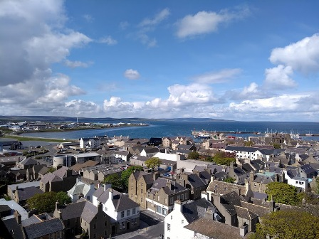 St Magnus Cathedral view over Kirkwall