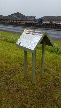 St Magnus Way Dounby display board