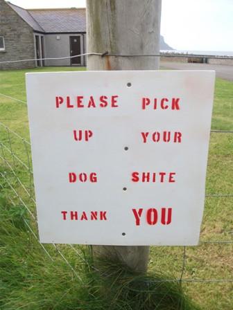 dog poo notice Warbeth