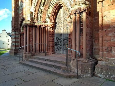 steps to St Magnus Cathedral