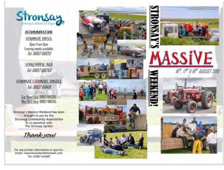 Stronsay Massive weekend 1