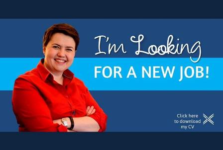 Ruth Davidson looking for a new job