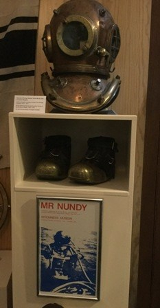 Stromness Museum Nundy and Campbell diving equipment