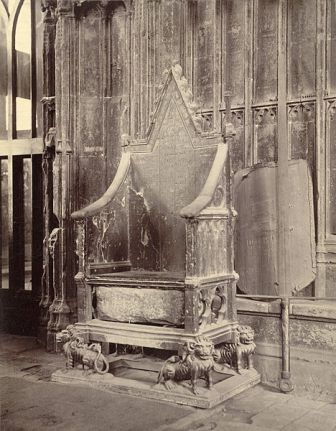 Coronation Chair with Stone of Scone, Westminster Abbey: Cornell University Library