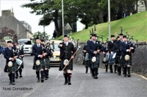 massed pipe bands Wick Donaldson