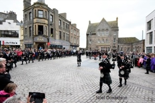 Wick massed pipe band Donaldson