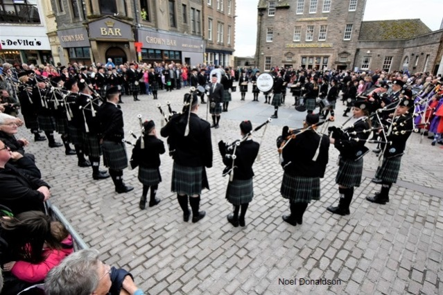 Wick massed pipe bands Donaldson