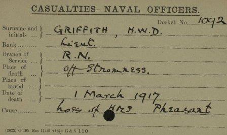 HW Douglas Griffith death RN
