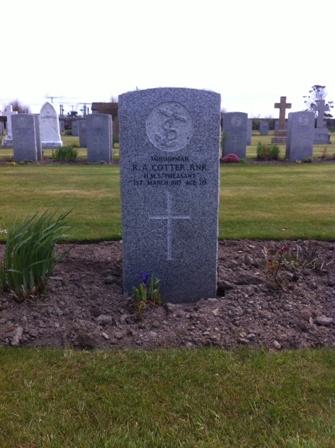 Reginald Cotter grave HMS Pheasant