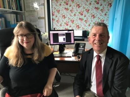 David Stewart MSP with Shetland Dr Susan Bowie