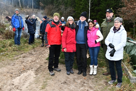 Harvey Johnston in Norway at the Christmas tree cutting 2019