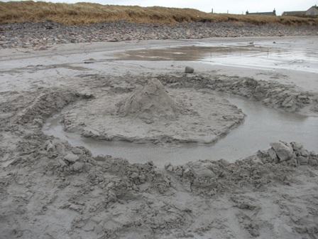 sandcastle Newark beach Bell