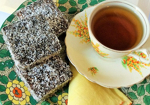 Lamingtons and a cup of tea