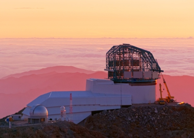 LSST at sunset, observatory, astronomy