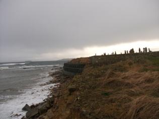 Deerness graveyard coastal erosion Bell St Ninians