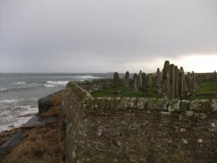 Deerness graveyard coastal erosion Bell