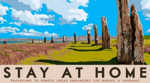 Stay at Home Brodgar Covid 19 by Stewart Bremenr