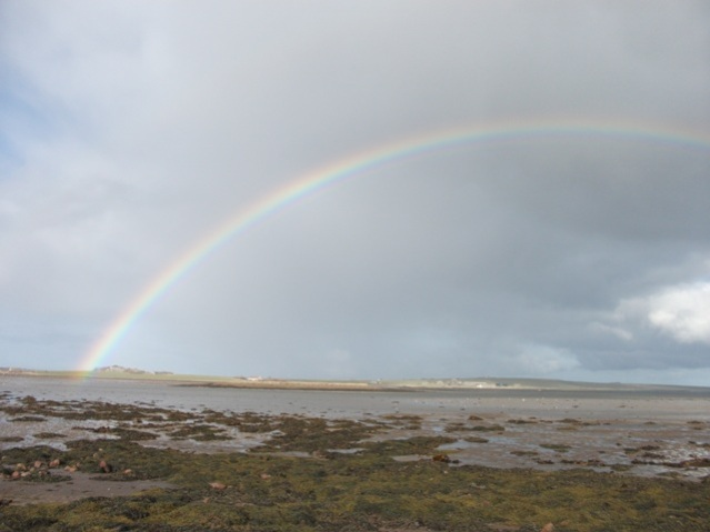 rainbow over Mill Sands Bell