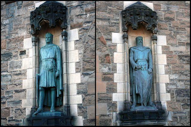 Robert Bruce And William Wallace Edinburgh Castle