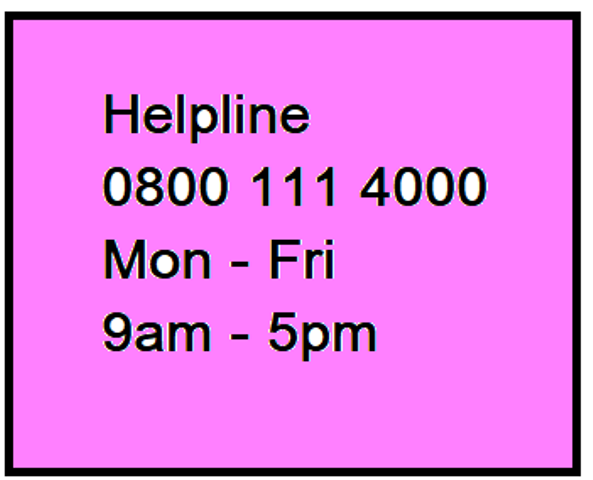 Helpline for those who do not have support Covid19